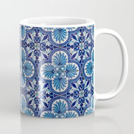 Blue Flower Mosaic Tile  Coffee Mug