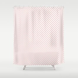 English Rose Polka Dots Shower Curtain
