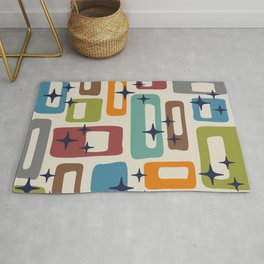 Retro Mid Century Modern Abstract Pattern 224 Rug