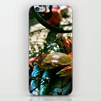 crab iPhone & iPod Skins featuring Crab by Kali Malone