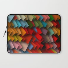 colorful rectangles with shadows Laptop Sleeve