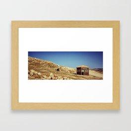 Tourist Police in Jordan Framed Art Print
