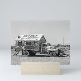 REPENT Jesus Truck Salvation Mountain Mini Art Print