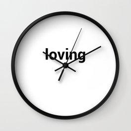 loving Wall Clock