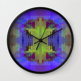 BLUE PATCHWORK Wall Clock
