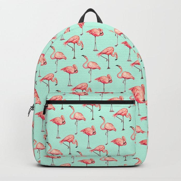 Flamingo Pattern - Blue Backpack