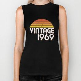 50th Birthday 50 Years Vintage Since 1969 Gift Biker Tank