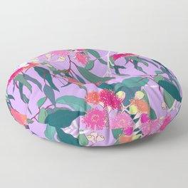 Australian Gumnut Eucalyptus Floral in Lilac Orchid Floor Pillow