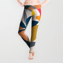 Abstract Floral No.1 Leggings