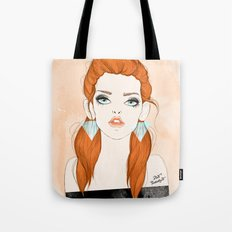 Red-haired girl Tote Bag