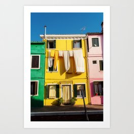 Beautiful Burano Italy Art Print