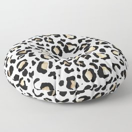 Leopard Animal Print Watercolour Painting Floor Pillow