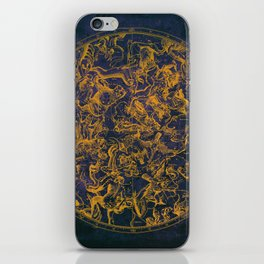 Vintage Constellations & Astrological Signs | Purple Galaxy iPhone Skin