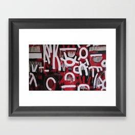 Red, White and Black Framed Art Print