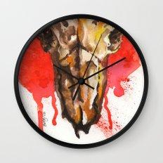 red moon skull Wall Clock