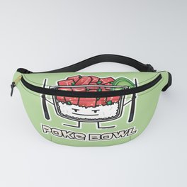 Poke bowl Hawaii raw fish salad chopsticks aku Fanny Pack