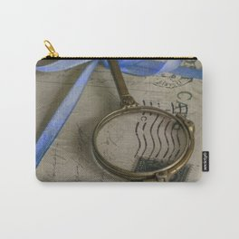 Still life with old letters and vintage loupe Carry-All Pouch