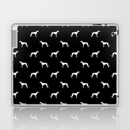 Greyhound black and white minimal dog silhouette dog breed pattern Laptop & iPad Skin
