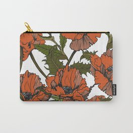Autumnal flowering of poppies I Carry-All Pouch