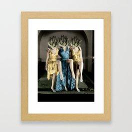 Artichoke pin ups Framed Art Print