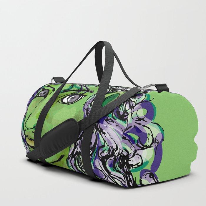 Female elf profile 1e Duffle Bag