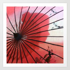 RED CHINA Art Print