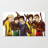 quidditch Canvas Prints featuring Quidditch by Plebnut