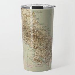 Vintage Map of Costa Rica (1896) Travel Mug