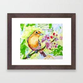 Croce e Delizia Framed Art Print