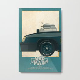 Mad Max's Black on Black Interceptor from Mad Max, 1 of 3 Metal Print