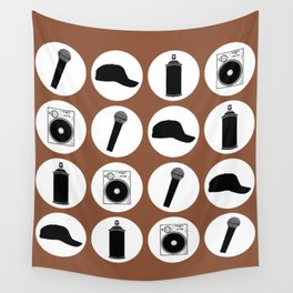 4 Elements Of Hip-Hop Wall Tapestry