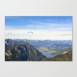 Paraglider above the Austrian Alps 1 Canvas Print