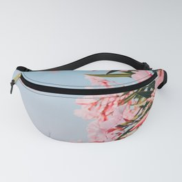 Pink Flowers in Santorini Summer Photography  Fanny Pack