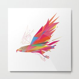 Polygonal-Eagle Metal Print