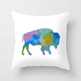 Bison Throw Pillow