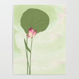 Survive like a lotus flower, rising from the muc Poster
