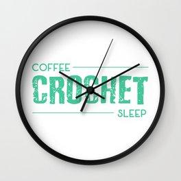 coffee crochet sleep Wall Clock