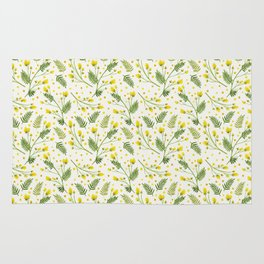 Yellow flowers Rug