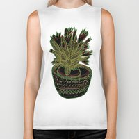 plant Biker Tanks featuring Plant by Ali Hunter