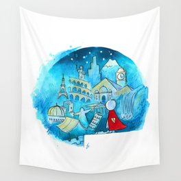 Travel the world Wall Tapestry