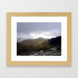 Mount Snowdon, Snowdonia, Wales Framed Art Print