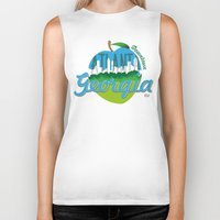 atlanta Biker Tanks featuring Downtown Atlanta Georgia by Niels Revers Design