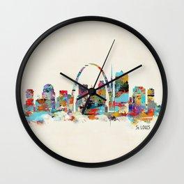 saint louis missouri skyline Wall Clock