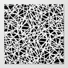 Ab Upside down Black Canvas Print