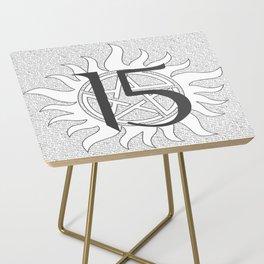 SPN Print (White) Side Table