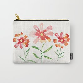 Orange and Red Cosmos Carry-All Pouch