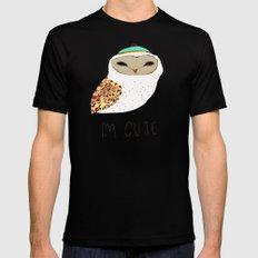 i'm cute owl illustration  MEDIUM Mens Fitted Tee Black