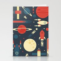 stickers Stationery Cards featuring Space Odyssey by Tracie Andrews