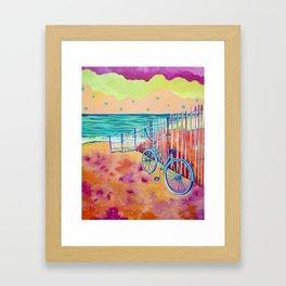 Calm Seas and Cruiser Framed Art Print