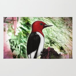 Ruby the Red-Headed Woodpecker Rug